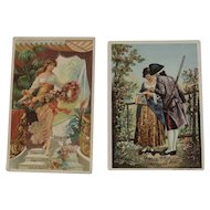 c1880s Lazell's Perfumes Advertising Trade Cards Litho