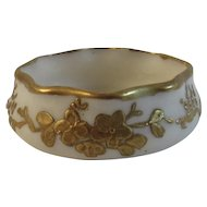 Lenox American Belleek Salt Gold Floral Design