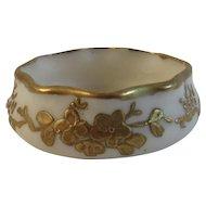 Lenox American Belleek Salt Gold Floral Design