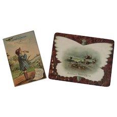 2 Victorian Coffee Advertising Trade Cards Sarica and Mokaska