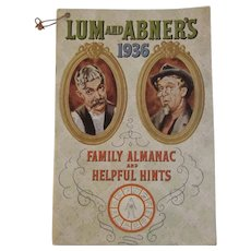 Lum & Abner's 1936 Family Almanac and Helpful Hints Book for that Vintage Kitchen
