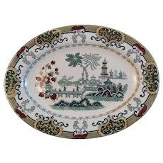 Petrus Regout Maastricht Pekin Platter Polychrome Transferware Tableware