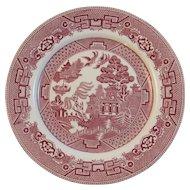 Allerton's Red Willow Dinner Plate Transferware England Tableware