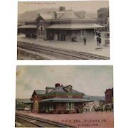 Philadelphia & Erie Railroad and Pennsylvania Railroad Ridgeway Station Postcards
