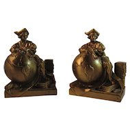 PM Craftsman Columbus Globe Bookends Book Ends