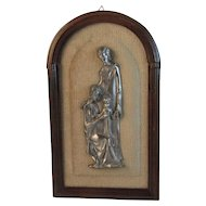 Peltro Italy Pewter Holy Family Plaque