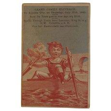 Camden & Atlantic Railroad Excursion Ad Trade Card