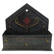 Tole Painted Tin Comb Box Pennsylvania Dutch Folk Art Farm Farmhouse