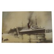 RMS Aurania Ship Postcard Cunard Line Nautical