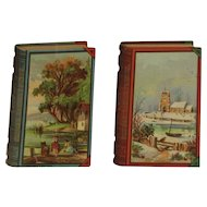 2 Leis German Baking Powder Victorian Trade Cards Book Shaped