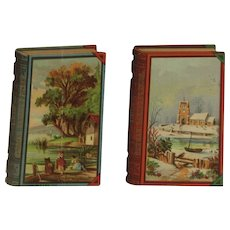 2 Leis German Baking Powder Victorian Trade Cards Book Shaped