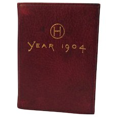 1904 Petite Calendar and Stamp Case Miniature Book Livermore & Knight