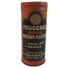 Fougera's Mustard Plaster Tin Made in France Medical