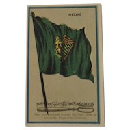 Ideal Felt Tooth Polisher Brush Irish Flag Ad Trade Card