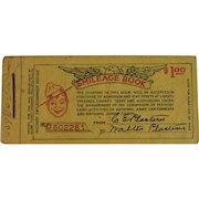WWI Smileage Book War Dept Military Entertainment Service Globe Ticket Co. PA