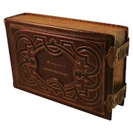Christmas 1864 Leather Photo Album