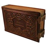 Christmas 1864 Leather Photo Album
