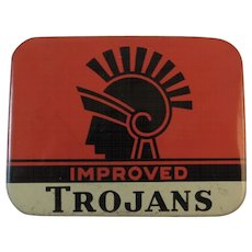 Trojans Prophylactics Tin Vintage Young's Rubber Corporation