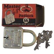 Master Little Giant Padlock 66