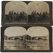 Two WWI Airplane Stereoview Cards