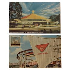 Two New York World's Fair 64-65 Postcards