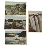 Four 1900s Niagara Falls Postcards