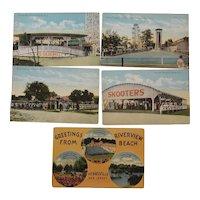 Five 1900s Riverview Beach New Jersey Postcards
