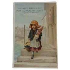 Lautz Circus Soaps Victorian Trade Card Chromolithograph