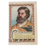 c1880s The Village Blacksmith Globe Pills Advertising Booklet