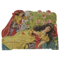 Lion Coffee Die Cut Paper Doll Sleeping Beauty - Red Tag Sale Item