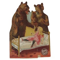 Lion Coffee Die Cut Paper Doll The Three Bears - Red Tag Sale Item