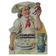 Lion Coffee Die Cut Paper Doll Tom Thumb