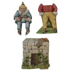 Lion Coffee Paper Doll Set Humpty-Dumpty Die Cut Humpty Dumpty - Red Tag Sale Item