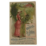 Royal St. John Sewing Machine Trade Card