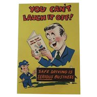 1948 Sid Hix Comic Book Safe Driving Advertising Book