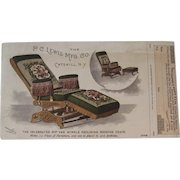 1893 Rip Van Winkle Reclining Rocking Chair Advertising Card from the World's Fair