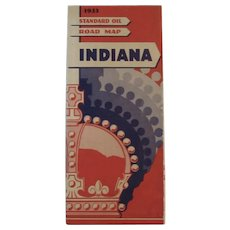 1933 Standard Oil Road Map - Indiana