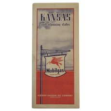 1939 Mobilgas (Socony - Vacuum) Road Map - Kansas