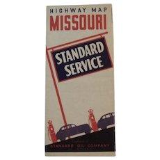 1930s Standard Oil Road Map - Missouri