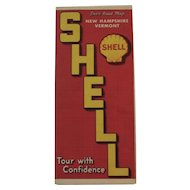 1930s Shell Oil Road Map - New Hampshire and Vermont