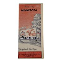 1930s Magic Aladdin Gasoline Road Map - Minnesota