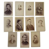 11 CDV Men with Moustaches Photographs Mustaches