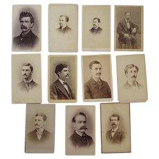 11 CDV Men with Moustaches Photographs Mustaches