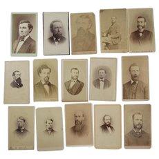 15 CDV Men with Beards Photographs Photos
