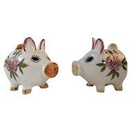 Pig Salt & Pepper Shakers Japan Ceramics in Original Box Vintage Kitchen Kitchenware Tableware
