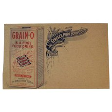 Grain-O Pure Food Drink Ad Trade Card from the Genesee Pure Food Co