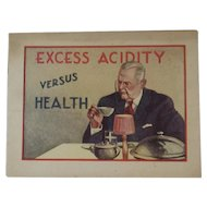 1920s Alka-Seltzer Advertising Booklet - Excess Acidity Versus Health Includes Nervine