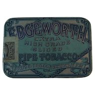 Edgeworth Pipe Tobacco Tin Extra High Grade Sliced Larus & Bro Richmond, VA, Litho
