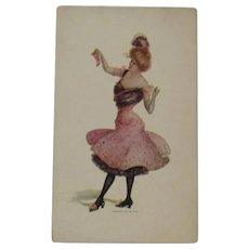1902 Burlesque Dancer Trade Card from Torrid Sunshine Furnaces