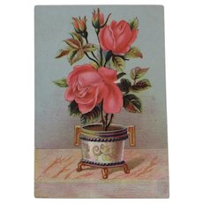 Victorian Chromolithograph Trade Card Novelty Rug Tufting and Embroidering Machine